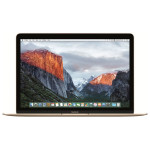 "Laptop APPLE MacBook 12"" Retina Display mlhe2ze/a, Intel® Core™ m3 pana la 2.2GHz, 8GB, 256GB, Intel HD Graphics 515, OS X El Capitan, Gold - Tastatura layout INT"