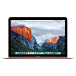 "Laptop APPLE MacBook 12"" Retina Display mmgl2ze/a, Intel® Core™ m3 pana la 2.2GHz, 8GB, 256GB, Intel HD Graphics 515, OS X El Capitan, Rose Gold - Tastatura layout INT"