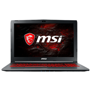"Laptop MSI GV62 7RE, Intel® Core™ i7-7700HQ pana la 3.8GHz, 15.6"" Full HD, 8GB, 1TB + SSD 128GB, NVIDIA GeForce GTX 1050 Ti 4GB, Free Dos"