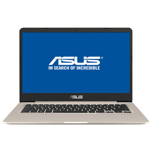 "Laptop ASUS VivoBook S406UA-BM031, Intel Core i7-8550U pana la 4GHz, 14.0"" Full HD, 8GB, SSD 256GB, Intel UHD Graphics 620, Endless"